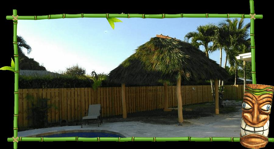 residential tiki huts and tiki bars
